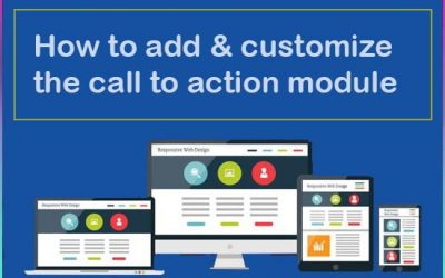 How to add & customize the call to action module