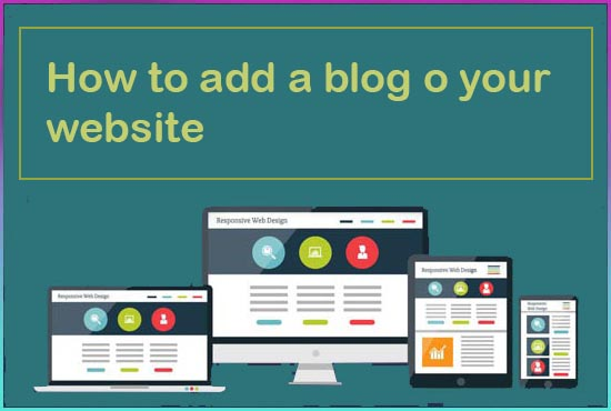 How to add a blog o your website